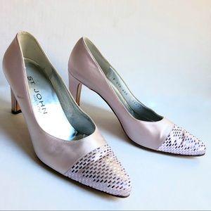 St. John Lavender Sparkle Heels